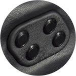Moovia Botones cubierto Cuero Negro 150x150 - Moovia® Decorado